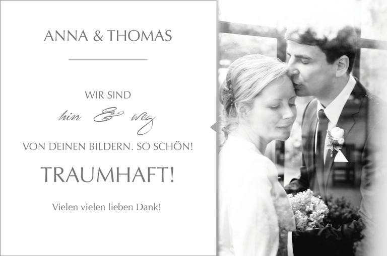 Schöne Worte zu Monika Schweighardt Photography's Arbeit von Anna & Thomas