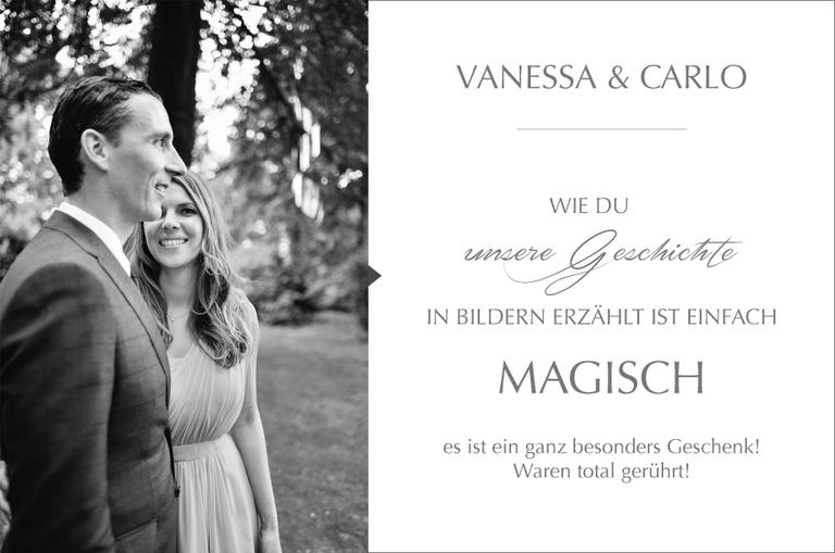 Kundenmeinung zu Monika Schweighardt Photography von Vanessa & Carlo